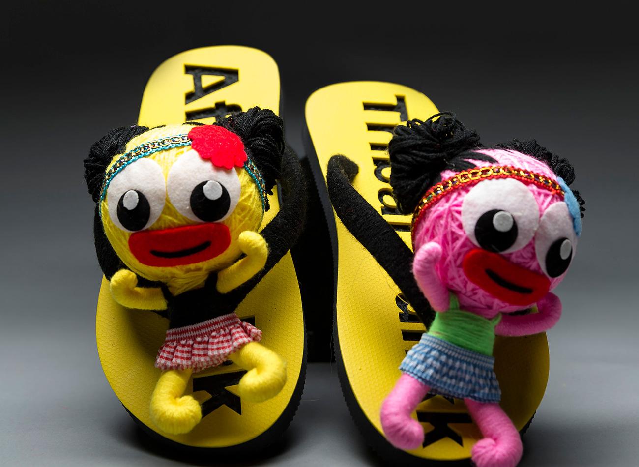 Tribal Flip - Flops (Yellow)